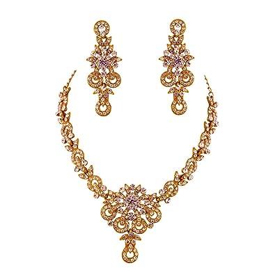 3ec5a065205 Buy Jewelshingar Jewellery Coloured Zircon Necklace Set for Women ...