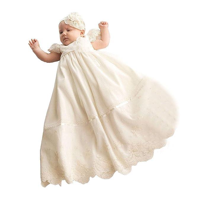 Amazon.com: fenghuavip Lace largo Vestido Bautizo para Baby ...