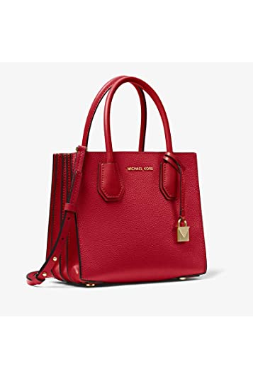 54d7d71b40c0 Michael Kors Mercer Pebbled Leather Accordion Crossbody BRIGHT RED: Handbags:  Amazon.com