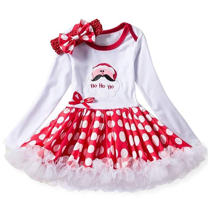 POLP Niño Regalo Navidad Bebe Rojo Niña Vestidos Navidad ...