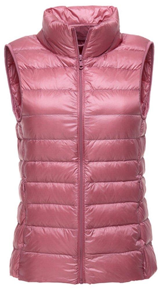 LANBAOSI Women's Packable Lightweight Down Vest Winter Down Waistcoat