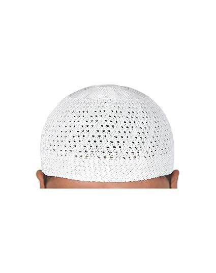 Kufi Style Head Mens Islamic Prayer Cap Muslim Topi Skull Hat Yam137 ... dee78bae74