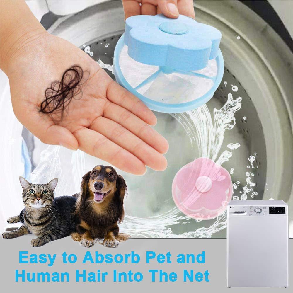 AMEU Filet Filtre /à Cheveux,R/éUtilisable Net Machine /à Laver Flottante Sac De Maille Flottant pour Charpie Outil De Nettoyage Sac De Maille A Laver Attrape-Cheveux pour Lave-Linges
