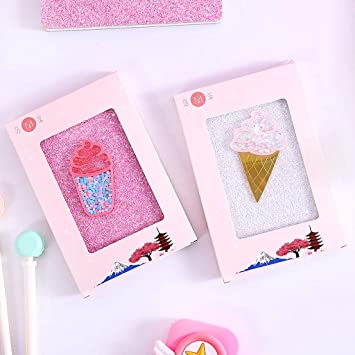Ice Cream Girl Cartoon Cute Diary Book Notebook Notepad Memo Paper B, Multicolor Gril Cute Notebook