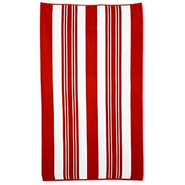 Northpoint Sorrento Combed Cotton Thick Terry Oversized Beach Towel, 40 by 70-Inch, Sicilian Red