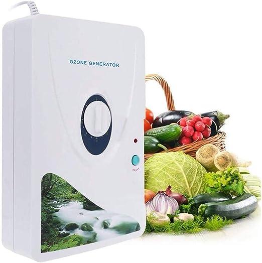 Ozonizador,Generador de ozono doméstico para eliminar olores ozonizados Agua Purificadores de aire Ozonizador para frutas y verduras Esterilizador de alimentos Purificador de aire (600mg / h: Amazon.es: Hogar