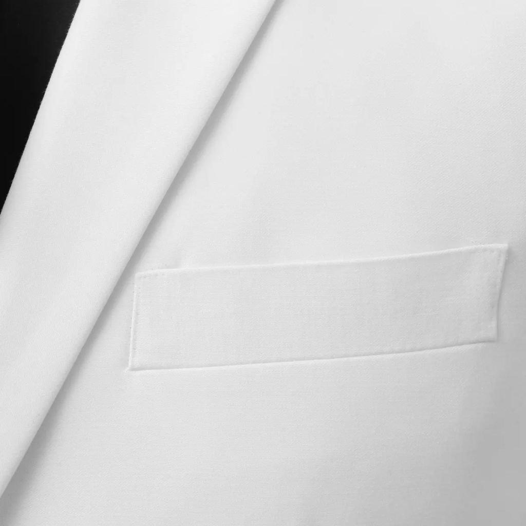ACCEWIT 2-TLG. Traje de Hombre con Corbata Blanca. Talla 46 ...