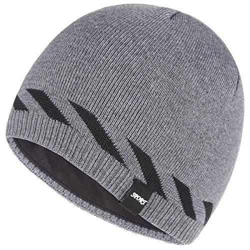 (Bodvera Winter Warm Knitting Beanie Watch Cap Fleece Lined Plain Toboggan Ski Skull Hats Caps,Grey)
