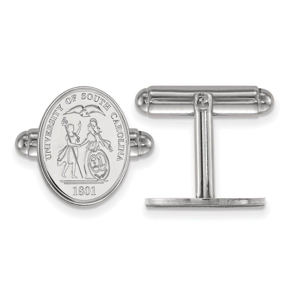 South Carolina Crest Cuff Links (Sterling Silver)