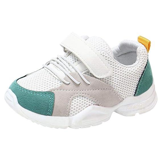 Zapatillas Unisex Niños,ZARLLE Casual Velcro Zapatillas Niño Zapatillas De Malla para Bebés Zapatos De Bebé Zapatillas De Deporte Sneakers Transpirables ...