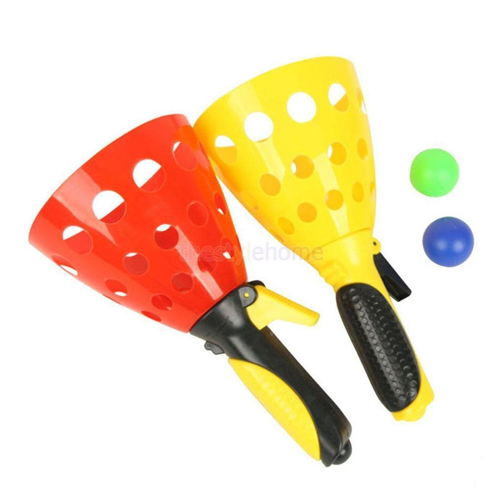 MIJORA-Set Plastic Click and Catch Ball Outdoor Sport Game Kids Children Play Fun
