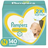 Diapers Newborn/Size 0 (< 10 lb), 140 Count - Pampers Swaddlers Disposable Baby Diapers, Enormous Pack (Packaging May…
