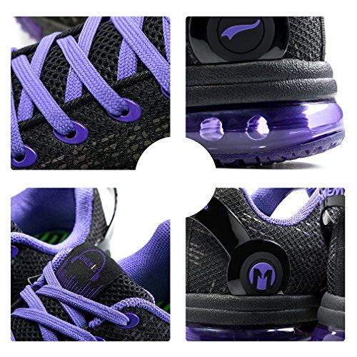 Air Sneakers Donna viola Fitness Casual Sportive Basse Ginnastica Scarpe Corsa Nero Da Onemix vwndqgaq