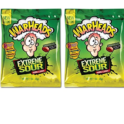 (Warheads Extreme Sour Hard Candy 2oz Bag (Pack of 2) Assorted Flavors -By Impact Confections)