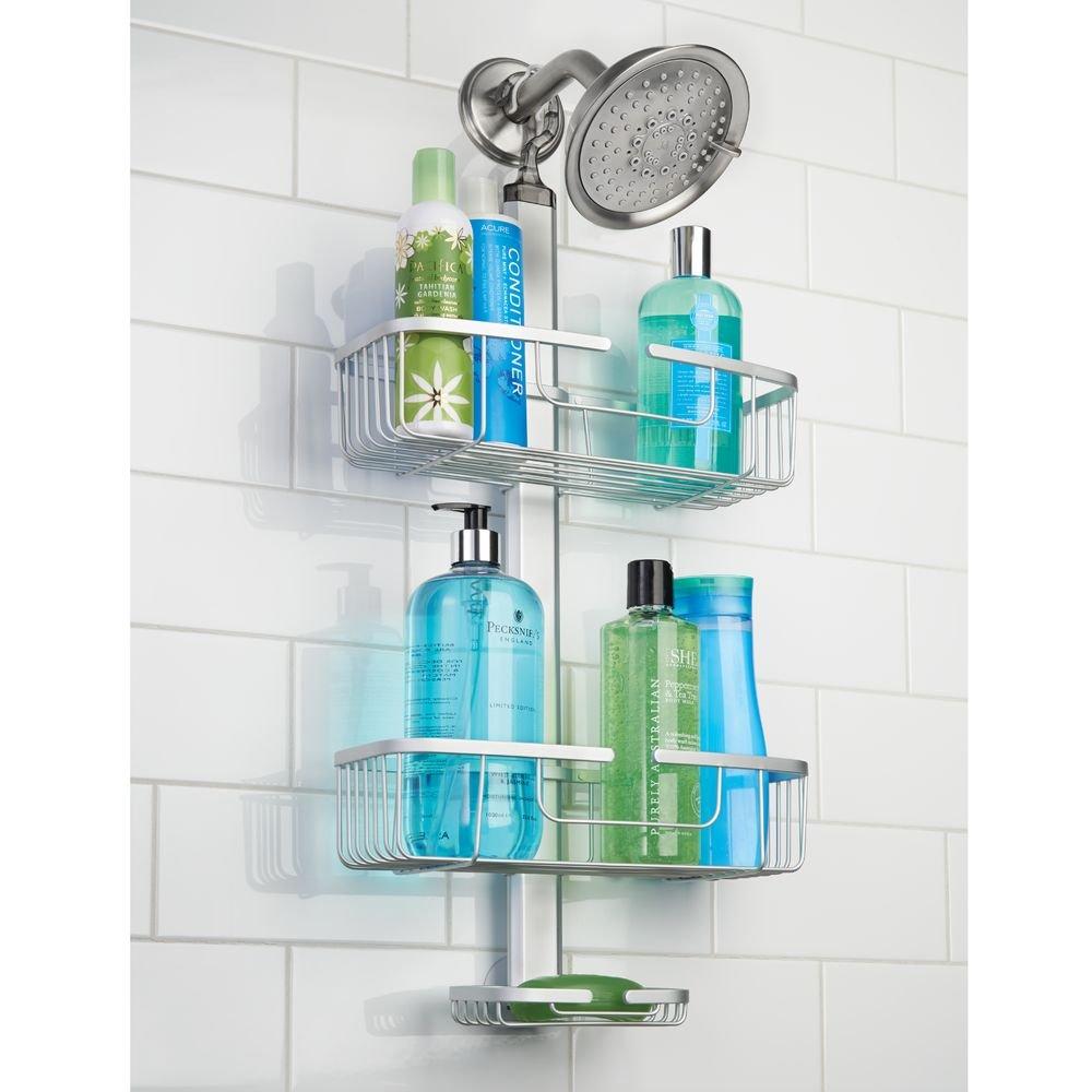 Amazon.com: InterDesign Metro Rustproof Aluminum Adjustable Shower ...
