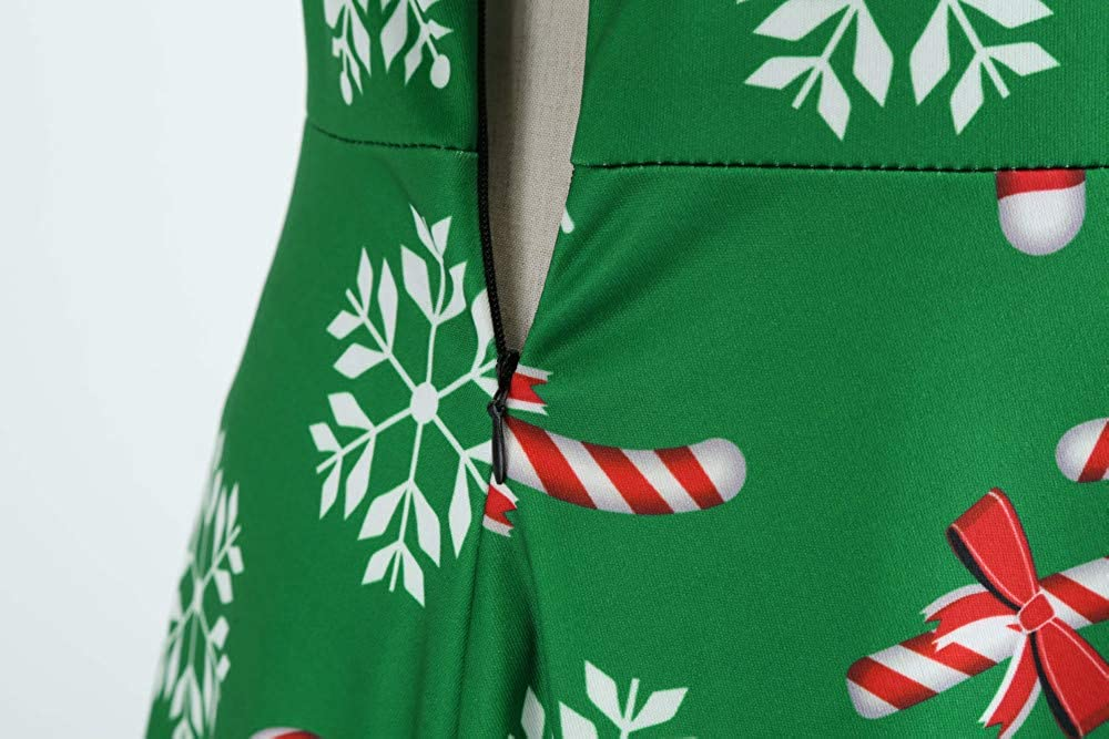 Women Christmas Dress Women Daily Dress Xmas Skater Ladies Snowman Swing Dress
