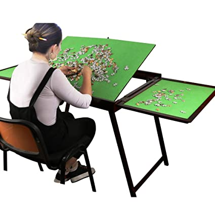 Amazoncom Wooden Jigsaw Puzzle Table For Adults Kidslarge