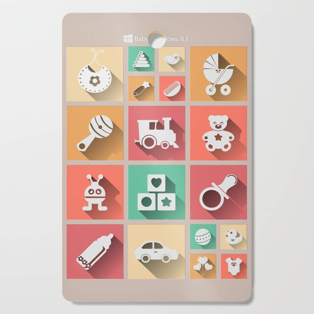 Society6 Wooden Cutting Board, Rectangular, Baby Windows 8.1 by dipweb