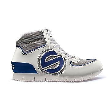 Sparco S00122948BIBM Genesis H Zapatillas, Color Blanco/Azul, Talla 48: Amazon.es: Coche y moto