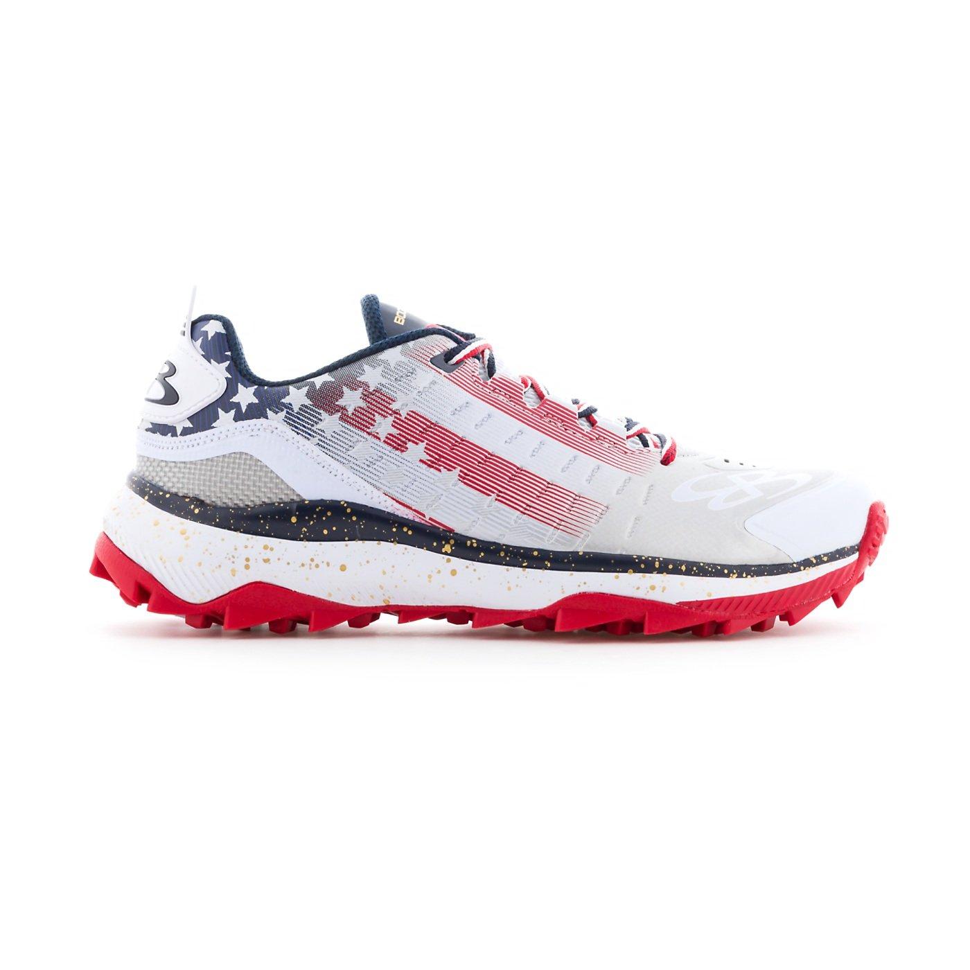 BoombahメンズCatalyst Turf Shoes – 14カラーオプション – 複数のサイズ B07BB5NK7X 10|ネイビー/レッド/ホワイト ネイビー/レッド/ホワイト 10