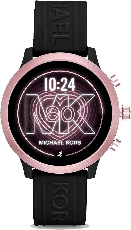 Michael Kors Access MKGO Smartwatch con Correa de Silicona Rosa y Negra para Mujer MKT5111