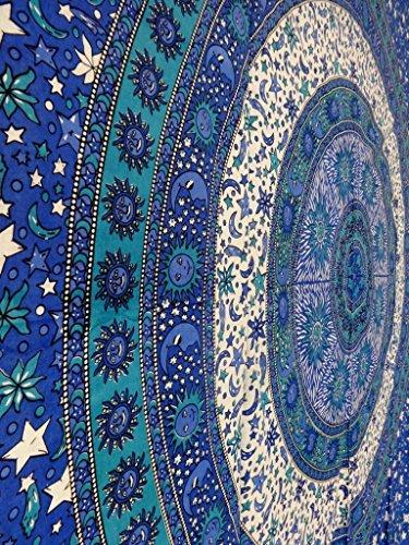 Bohemian Stars - Sun And Moon Tapestries, Indian Star Tapestry, Mandala Wall Hanging, Bohemian Decor, Dorm Bedding, Picnic Blanket, Housewares
