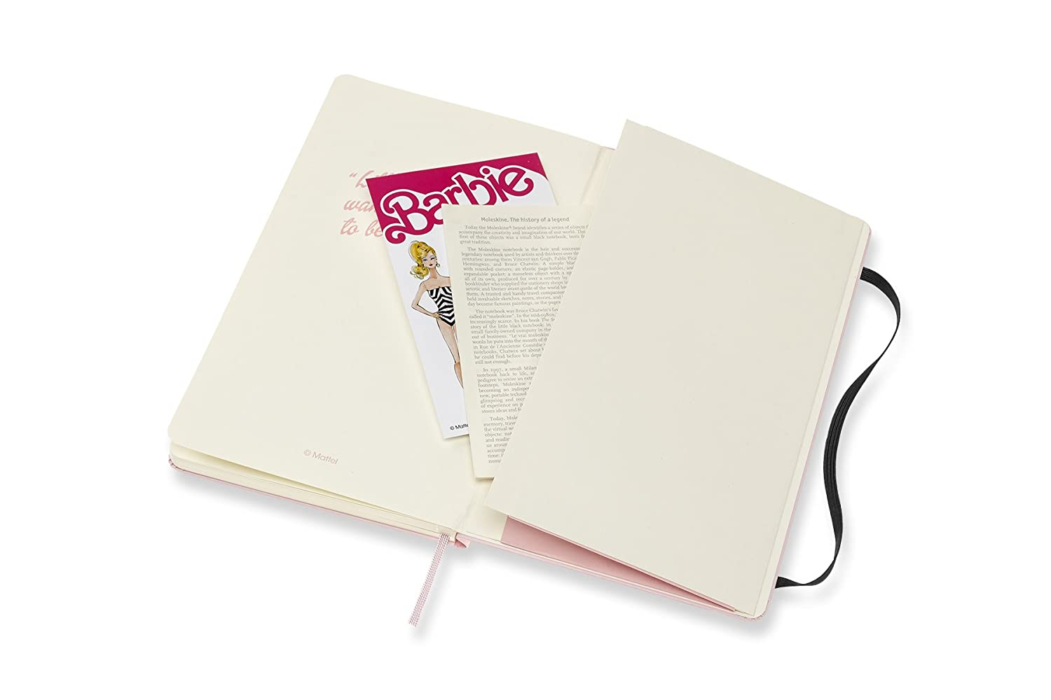 Amazon.com : Moleskine Limited Edition Notebook Barbie Swimsuit, Large, Plain, Pink, Hard Cover (5 x 8.25) : Office Products