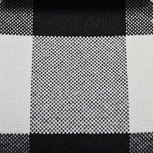 Tejido a cuadros Negro Blanco Gris Tela De Tapicería Cortina Cortinas Coser Bty