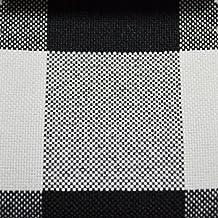 "5 Yard Bolt - BLACK/WHITE 60"" Wide Poly Poplin 1-inch Checkered Fabric"