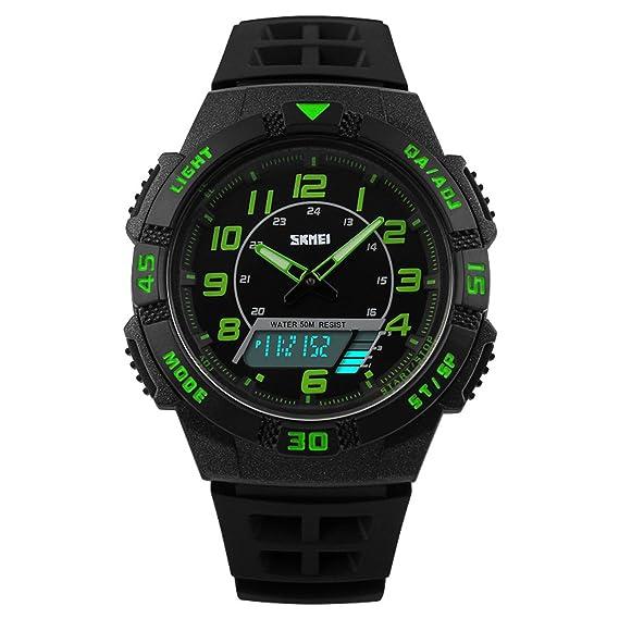 Beswlz Unisex Digital analógico natación reloj hora dual deportes al aire libre niños reloj con alarma