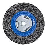 "Mercer Industries 183010 Crimped Wire Wheel, 6"" x 3/4"" x (1/2"", 5/8"")"