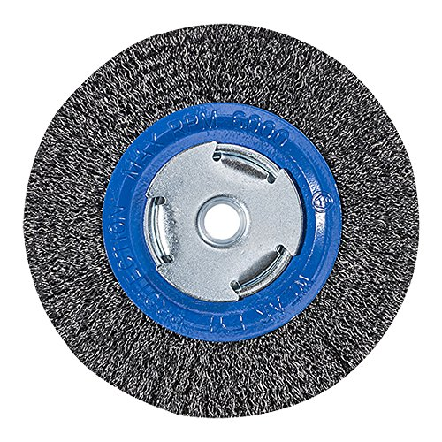 Mercer Industries 183010 Crimped Wire Wheel, 6'' x 3/4'' x 2'' (1/2'', 5/8''), For Bench/Pedestal Grinders by Mercer Industries