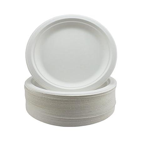 Súper Rígido Bagazo Platos Biodegradable y Desechable - Ecológico ...