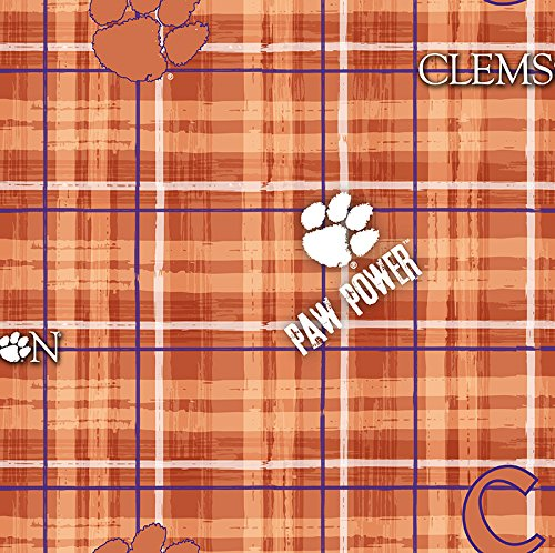 Clemson Tigers Plaid Cotton Fabric, Orange - Sold By the (Plaid Tailgate)