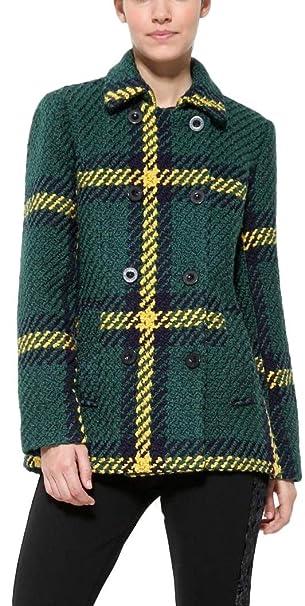 Desigual - Abrigo - para Mujer Verde Verde 40: Amazon.es: Ropa y accesorios