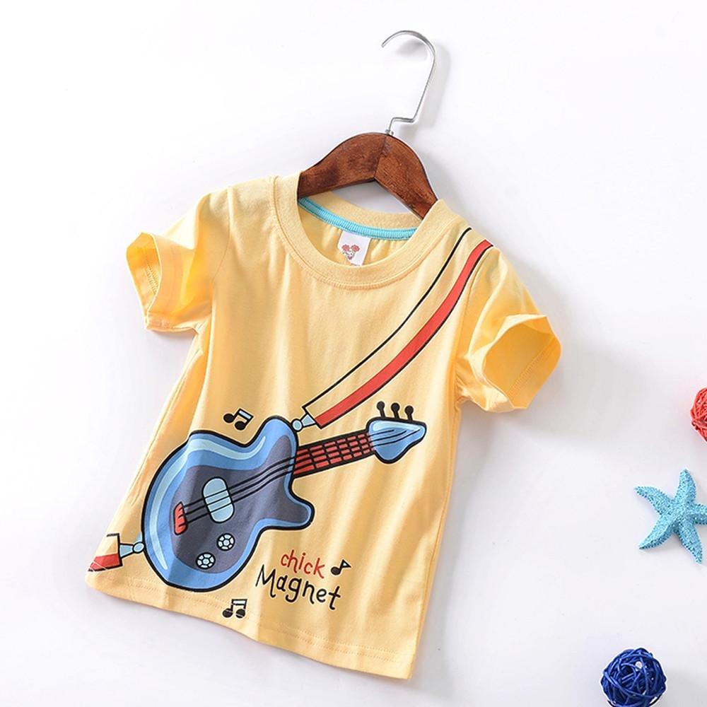 Summer Toddler Kids Baby Boys Girls Short Sleeve Tee T-Shirt Blouse for 18M-5T TM Jchen Boys Violin Print Tops,