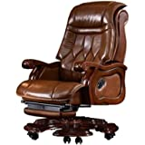 SMQHH Boss Chair, Electric Massage Leather Executive Chair Reclining Office Chair Swivel Chair Minimalist Home Recliner…