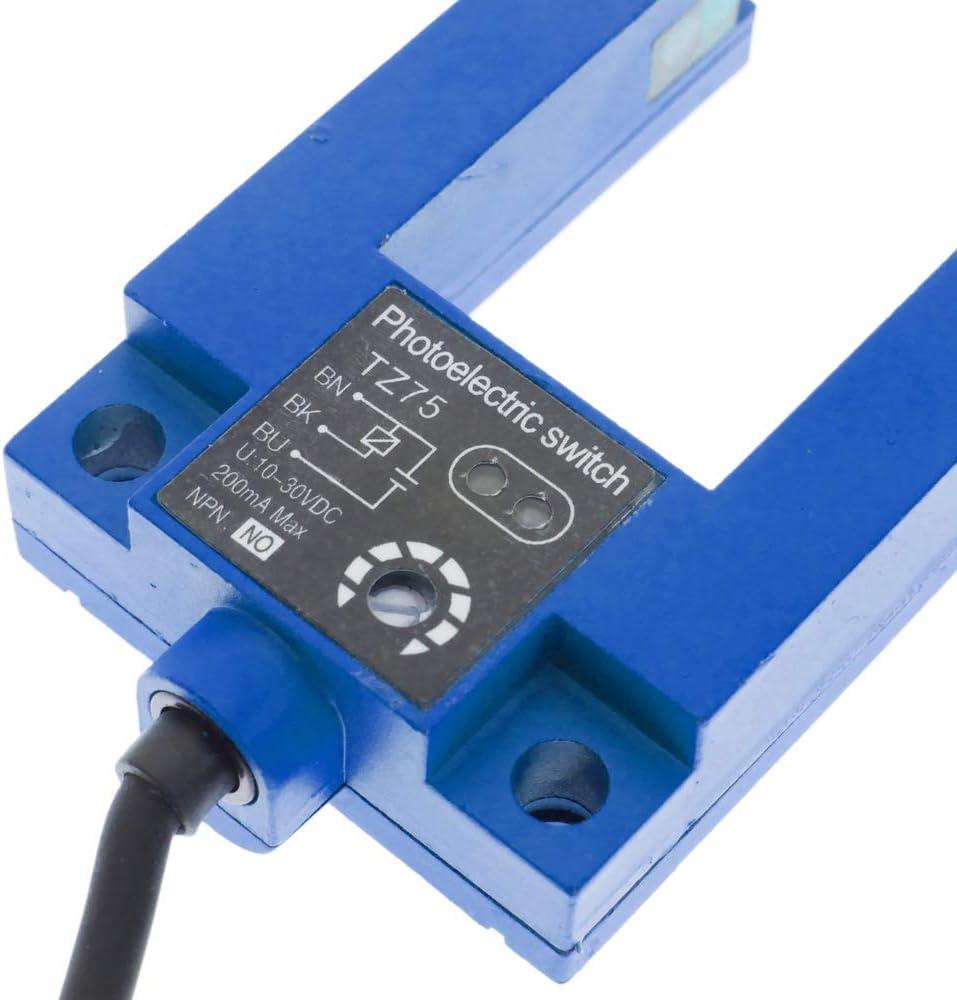 BeMatik Cellule photo/électrique capteur interrupteur commutateur NPN NO 10-36VDC M12 3m barrage