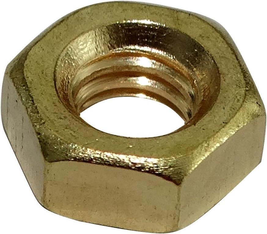50x Tuercas hexagonales M5 8mm H4mm DIN934 laton C19178 AERZETIX