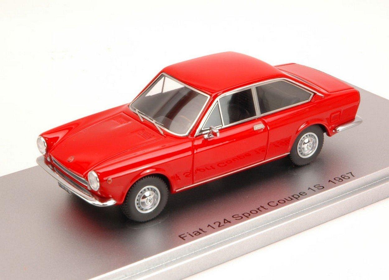 KESS MODEL KS43010110 FIAT 124 SPORT COUPE' 1S 1967 ROT ED.LIM.PCS 250 1:43
