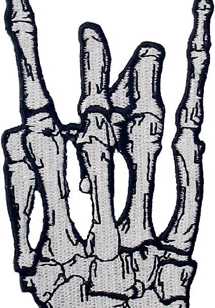 Parche termoadhesivo para la ropa, diseño de Dedo esqueleto de ...