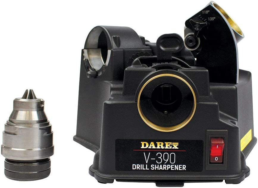 best drill bit sharpeners: DAREX V390 - ideal for light operations