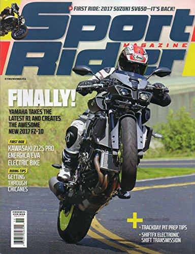Sport Rider Magazine 2016 FIRST RIDES: 2017 SUZUKI SV650 & KAWASAKI Z125 PRO ENERGICA EVA ELECTRIC BIKE