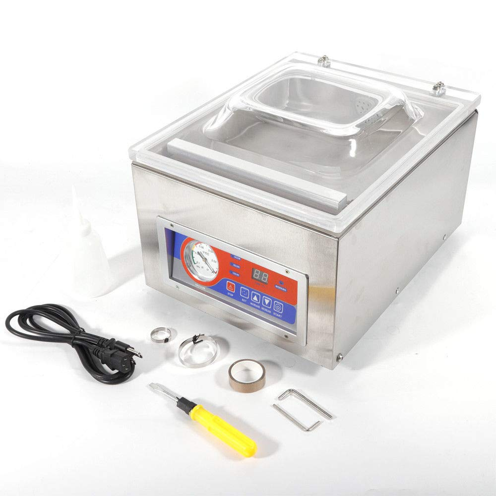 Vacuum Sealer Machine,Commercial Kitchen Food Chamber Tabletop Seal Vacuum Packaging Machine Sealer 110V (US Stock) by GDAE10 (Image #3)