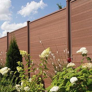 Wpc Terrasso Sichtschutzzaun Bausatz Lamellenzaun Zaun In Braun