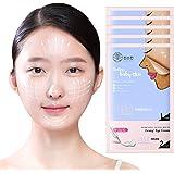CRAZY SKIN Perfect Lifting V-Line Slim Mask Pack (5 sheets) - Wash off Face Mask, 2 Step Care for Aging Skin ( Face Mask + Ey
