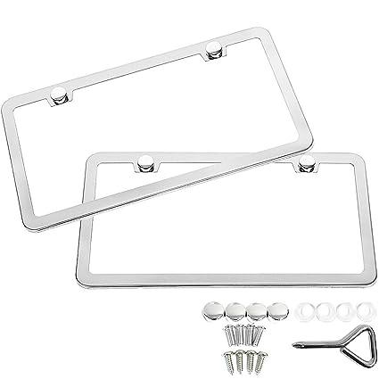 Amazon.com: SunplusTrade 2 Stainless Steel Polish Mirror License ...