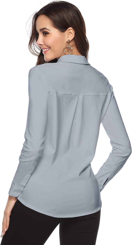 Oto/ño e Invierno Abollria Blusa Elegante para Mujer Camisa Basic Manga Larga para Primavera