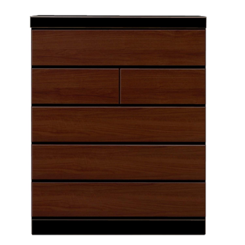 関家具(Sekikagu) チェスト ブラウン 幅90×奥行41.5×高さ118cm ハイチェスト 90cm幅5段 241893 B07J9R7H1C