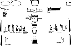 Rvinyl Rdash Dash Kit Decal Trim for Mercedes-Benz C-Class 2002-2004 (Sedan) - Wood Grain (Burlwood Matte)